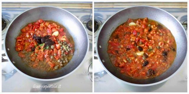 aggiungere olive e capperi