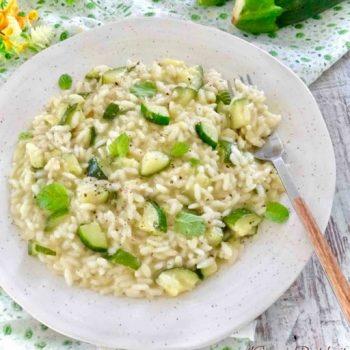 risotto con zucchine bimby