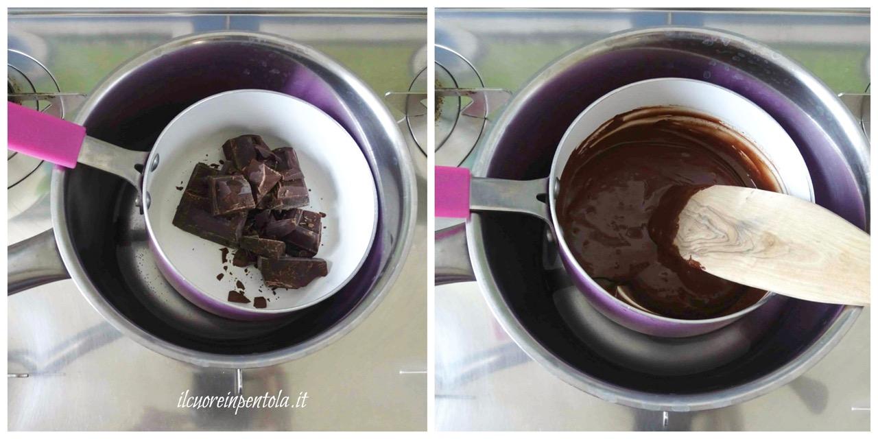 sciogliere cioccolato
