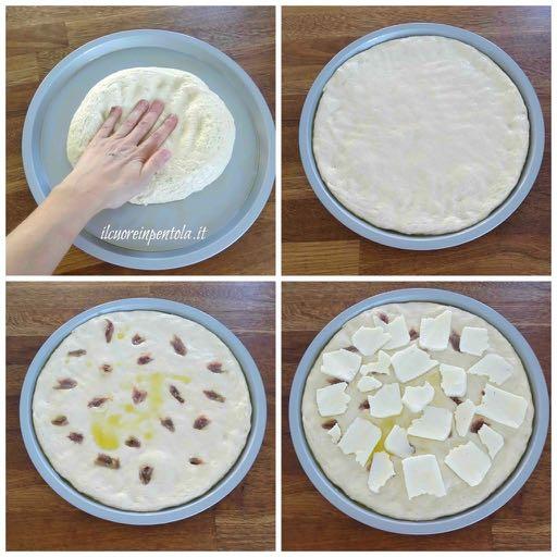 condire con acciughe e formaggio