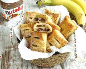 fagottini di sfoglia con nutella e banane