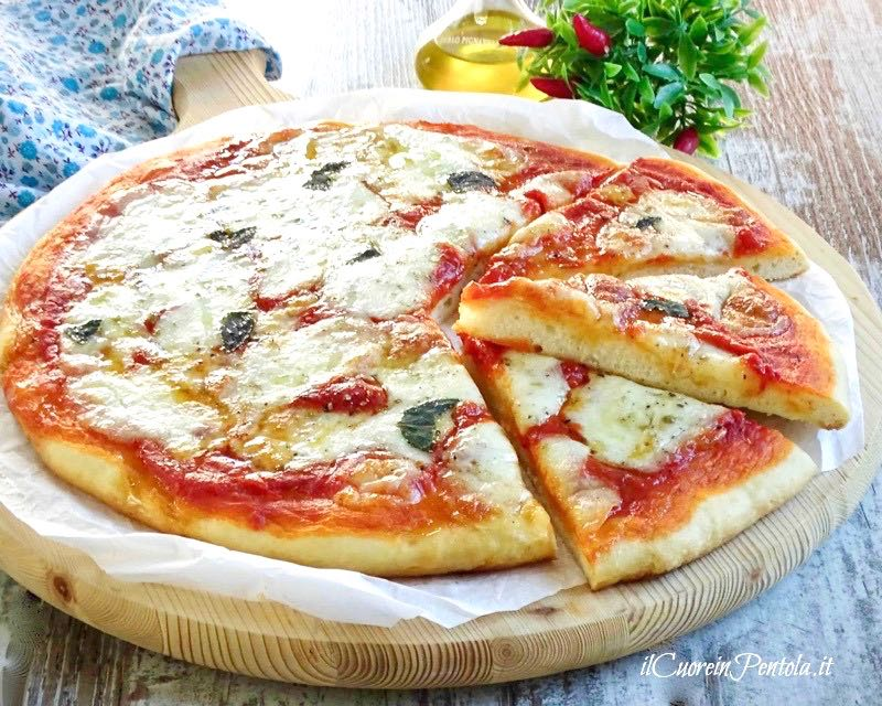 pizza senza lievitazione