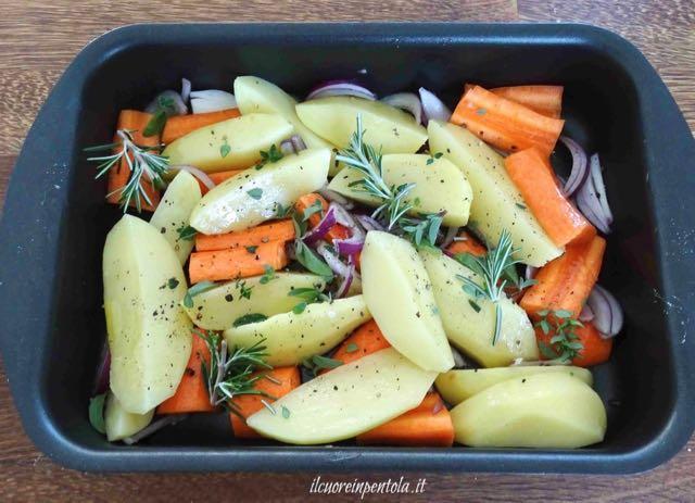 patate e carote al forno