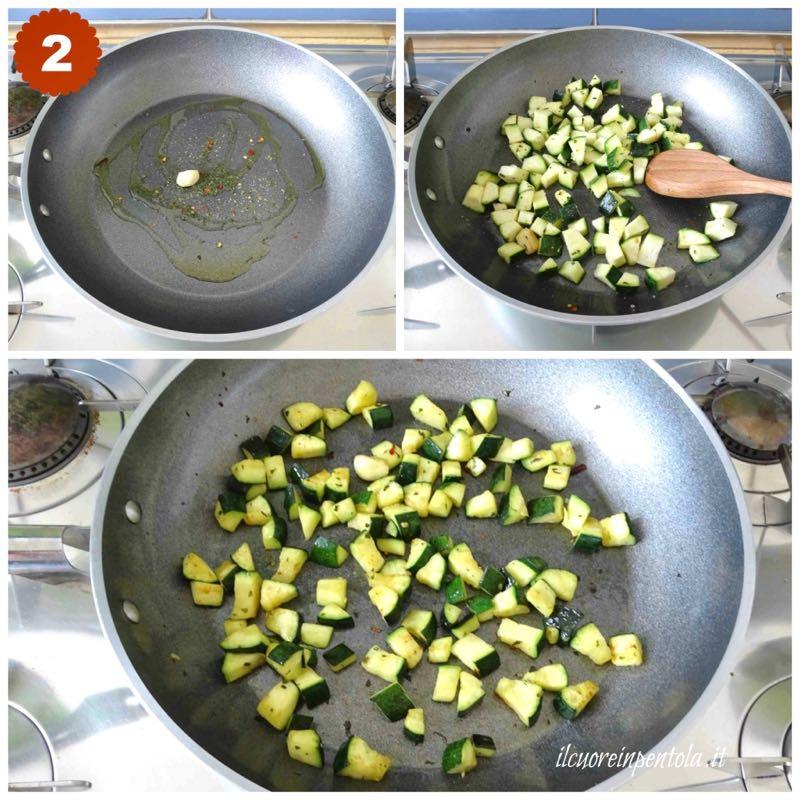saltare zucchine in padella