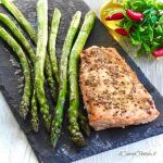 salmone e asparagi al forno