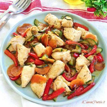 pollo alla soia con verdure