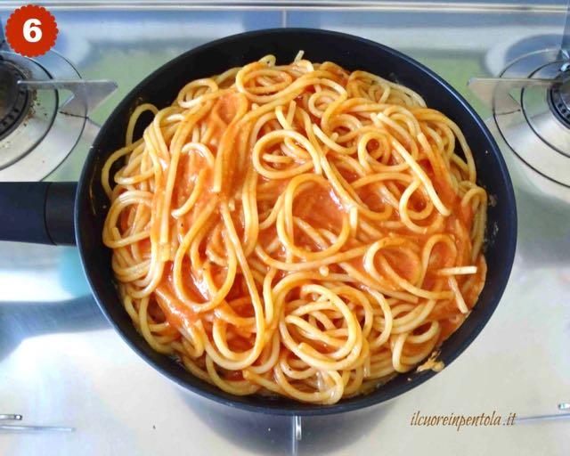 aggiungere spaghetti restanti