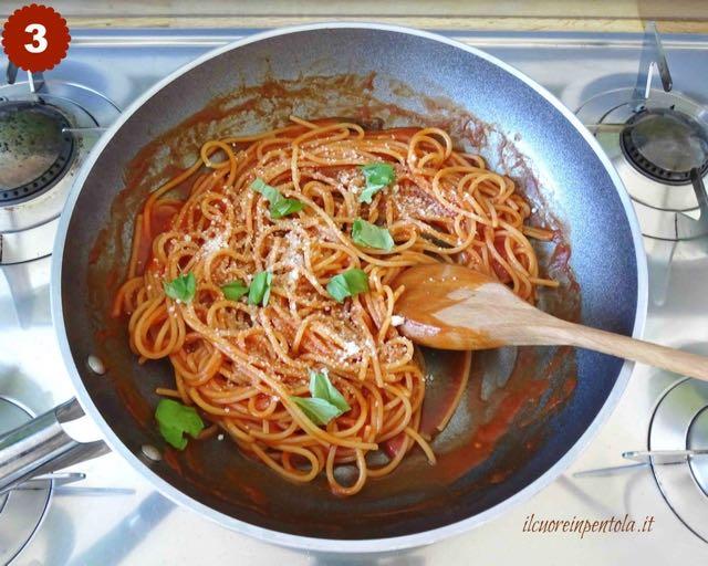 aggiungere basilico e parmigiano