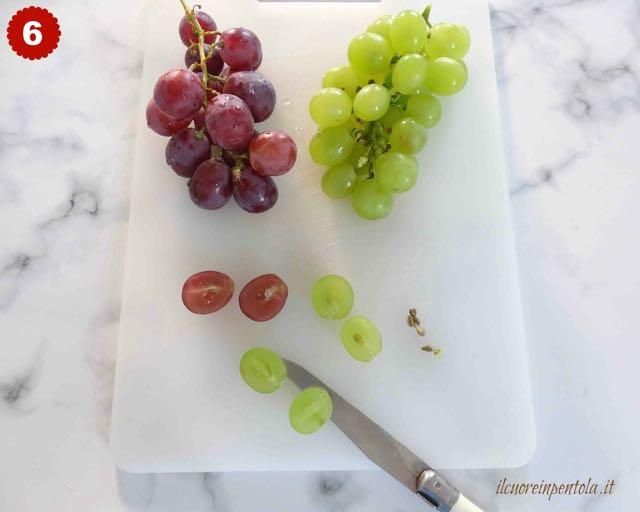 eliminare semini dall'uva