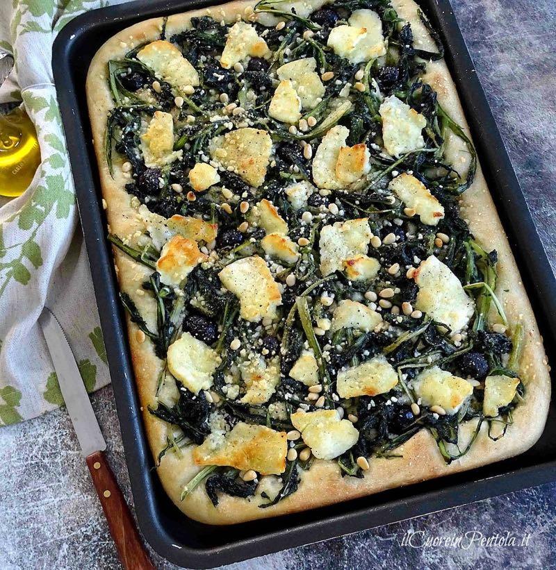 pizza in teglia con verdure