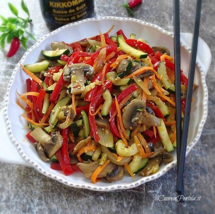 verdure con salsa di soia