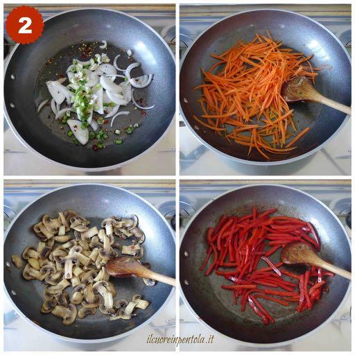 saltare verdure in padella singolarmente
