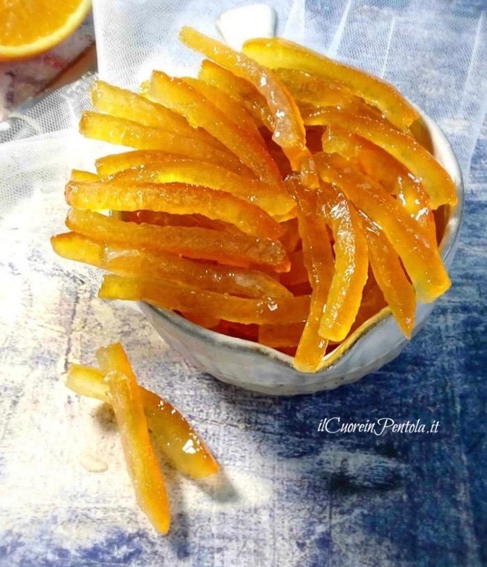 scorzette d'arancia candite