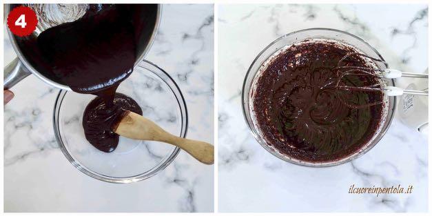 montare ganache al cioccolato