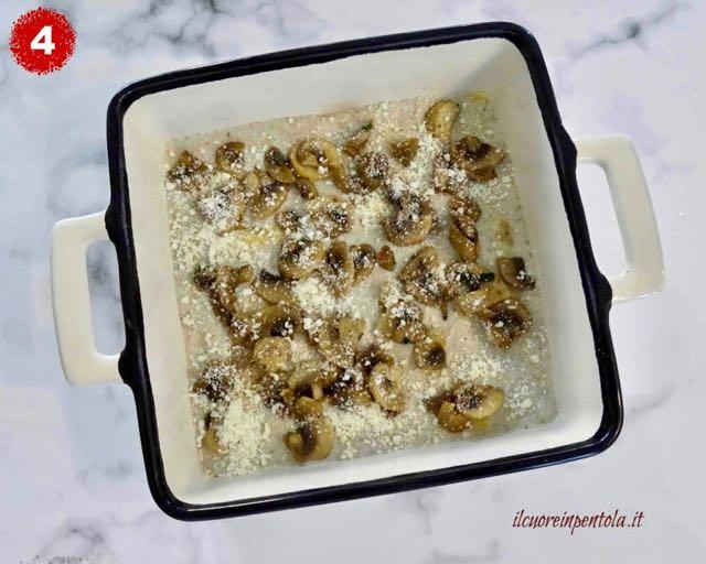condire lasagne ai funghi