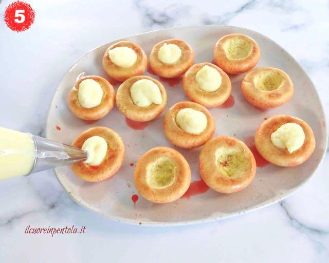 farcire biscotti con crema pasticcera