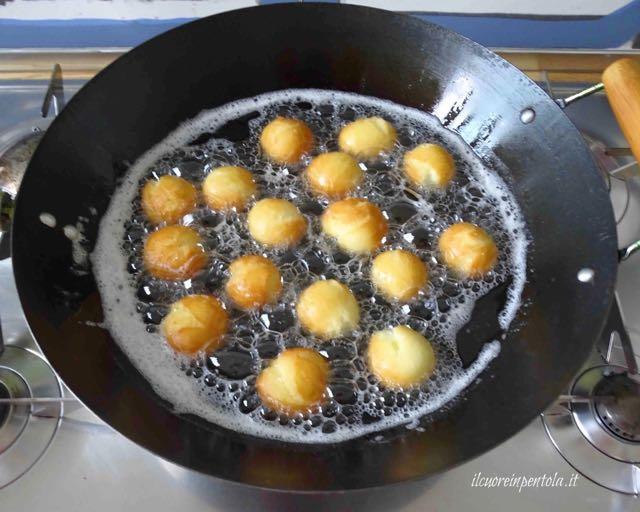 come friggere le castagnole