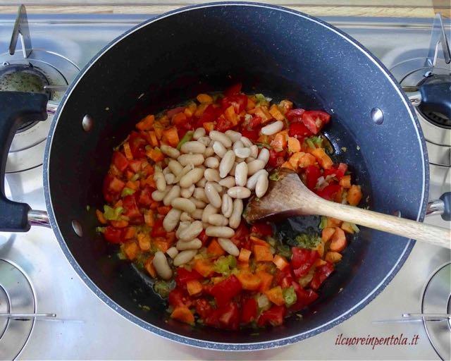 aggiungere patate e fagioli