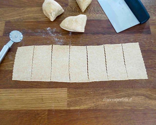 ritagliare crackers
