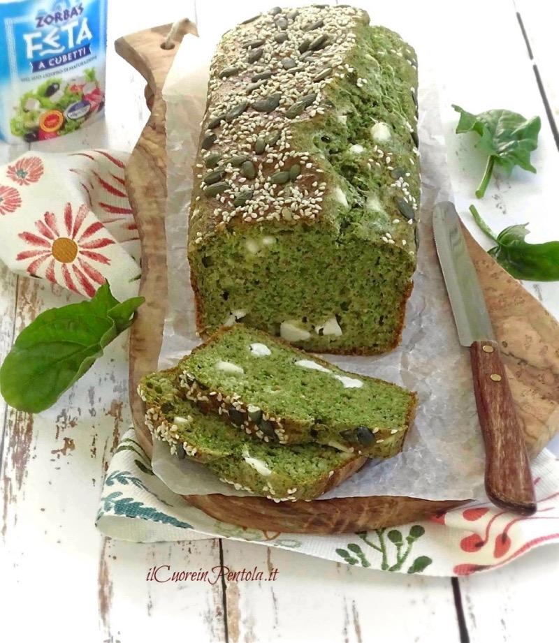 plumcake agli spinaci