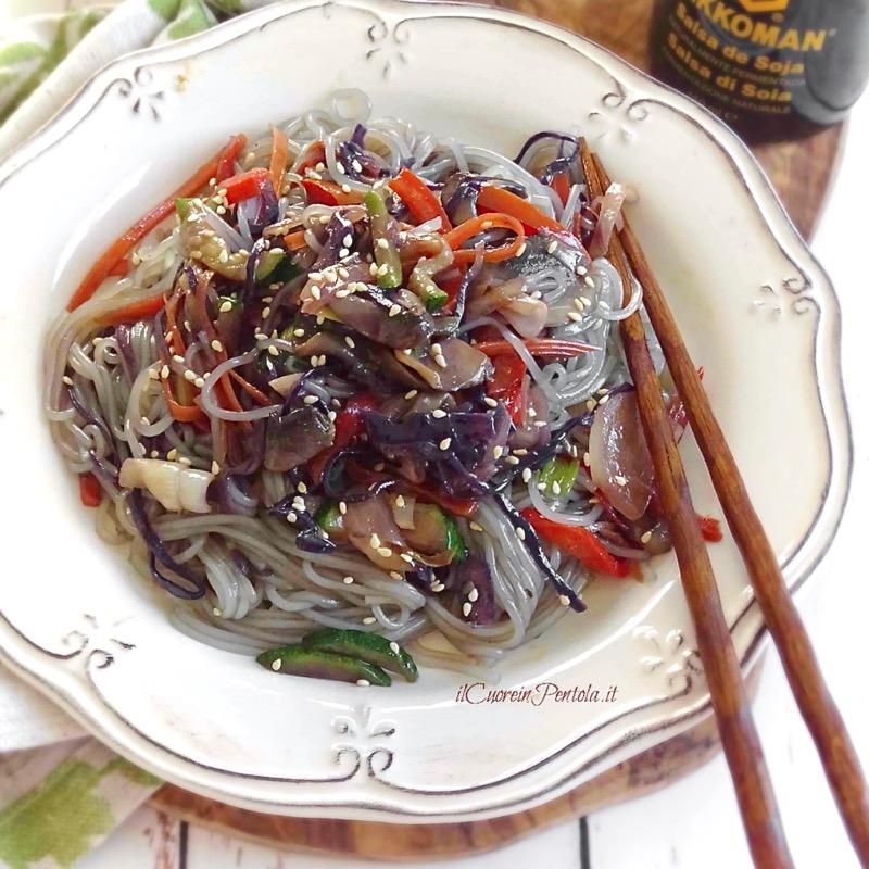 shirataki con verdure