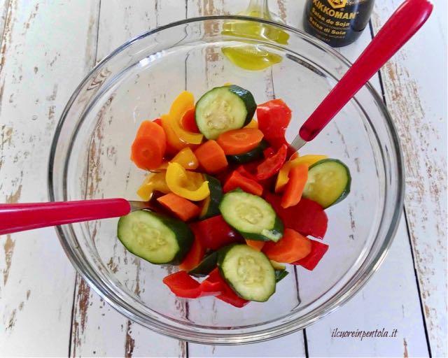 condire verdure al vapore
