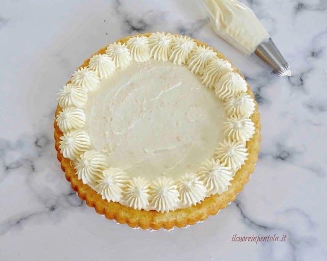 decorare torta con crema