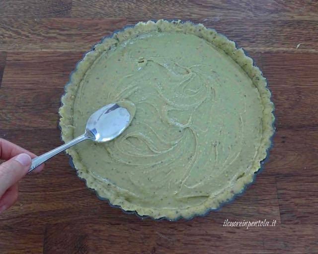 farcire con crema di pistacchio